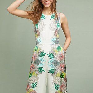 Anthro NWT satin floral jumpsuit 14